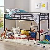 AmazonBasics Metal Twin Loft Bed, Easy Assembly, Black