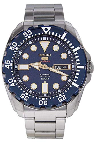 Seiko Herren-Armbanduhr 5 Sports Analog Automatik Edelstahl SRP605K1