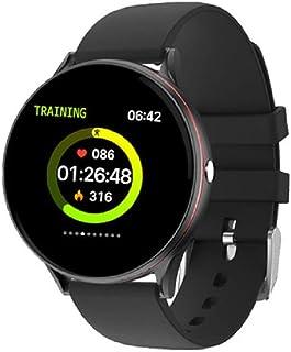 Reloj inteligente con pantalla táctil completa, frecuencia cardíaca multifunción a prueba de agua y presión arterial IP67, reloj deportivo para hombres, rastreador de actividad(Color:Rosa)