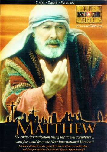 Gospel of Matthew The Visual Bible DVD in English, Spanish and Portuguese