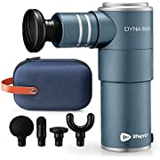 Mini Massage Gun Deep Tissue Massager - DynaMini Portable Percussion Muscle Massager Gun for Pain Relief - Super Small & Quiet Muscle Massage Gun with Easy Carry Case for On The Go Usage (Blue)