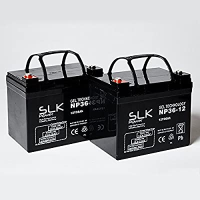 Pair of Gel AGM Mobility Scooter Batteries - 12v x 33ah, 36ah, 40ah, 50ah, 55ah, 75ah (36ah)