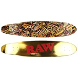 Raw Old School Ducktail - Tabla de longboard (45 x 9,5 cm)