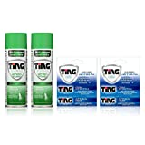 Ting Antifungal Spray Powder 4.50 oz & Cream 0.50oz for Athlete's Foot, Jock Itch, Ringworm, Max Strength, | Bundle Pack Includes 2-Pack ea 1 ea