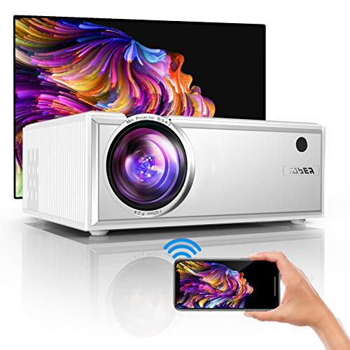 "YABER Y61 WiFi Mini Projector 6000L Full HD 1080P and 200"" Supported, Portable Wireless Mirroring Projector for iOS/Android/TV Stick/PS4/PC Home & Outdoor"