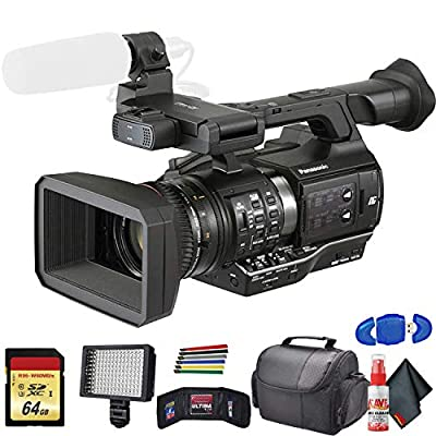 Panasonic AJ-PX270 microP2 Handheld AVC-Ultra HD Camcorder (AJ-PX270P) with Padded Case, LED Light, 64GB Memory Card and More Base Bundle from Panasonic