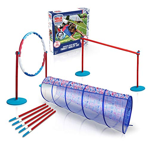 American Ninja Warrior Family Agility Set - Obstacle Race Course - Great for Children, Adults and Pets - Perfect Outdoor Fun Racing Obstacles for All Ages!