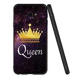 Pnakqil Coque Samsung Galaxy J4 Plus, Etui en Silicone Noir avec Motif 3D Fun Dessin Ultra Slim...