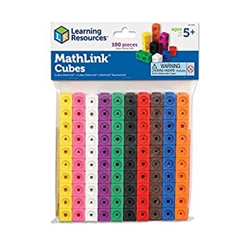 Learning Resources MathLink Cubes Back to School Activities Homeschool Classroom Games for Teachers Educational Counting Toy Math Cubes Linking Cubes Early Math Skills Math Manipulatives Set of 100 Cubes STEM toys Ages 5+