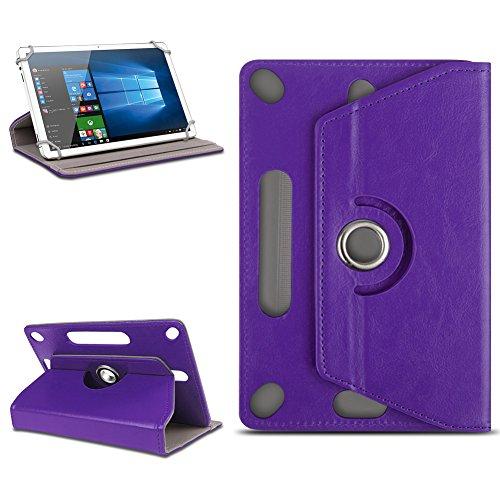 Odys Score Plus 3G Universal Tablet Tasche mit Ständerfunktion Hülle Tablet von NAmobile Schutztasche Schutzhülle Stand Tasche Etui Cover Case hochwertige Optik Farbauswahl 360° drehbar, Farben:Lila