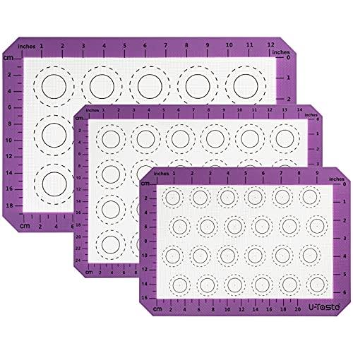 Backmatten Silikon Backmatte groß für Kuchen Cookie Silikon Kochmatte Antihaft Rolling Teig Matte Küchengebäckwerkzeuge (Size : 3 Size Set)