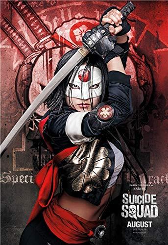 Selbstmordkommando Filmplakat Comics Seidenplakate Harley Quinn Joker Seidendrucke Task Force Art Pictures Room Wall Decor 60x90cm