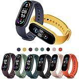 PIXESTT 8 PCS Straps for Mi Band 6/Mi Band 5/Amazfit Band 5, Smartwatch Strap Anti-Lost Silicone Designed Accessories -No Tracker