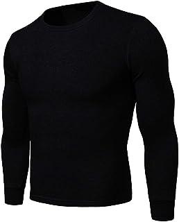 Sijux Men's Slim Underwear Set Two-Piece Plus Velvet Thick Keep Warm Round Neck Autumn Clothing Long Johns