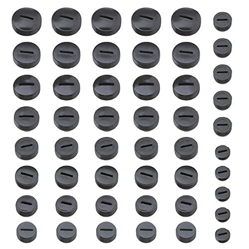 50 tapas de cepillo de carbono negro de plástico multicolor, diámetro 10 mm – 20 mm, piezas de repuesto para triturador de martillos, herramienta eléctrica