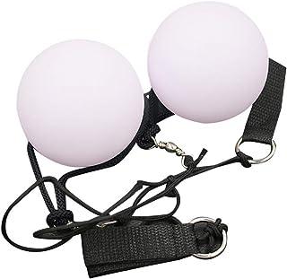 Healifty 2pcs LED iluminan bolas de malabarismo para danza del vientre LED Glow Poi (blanco)