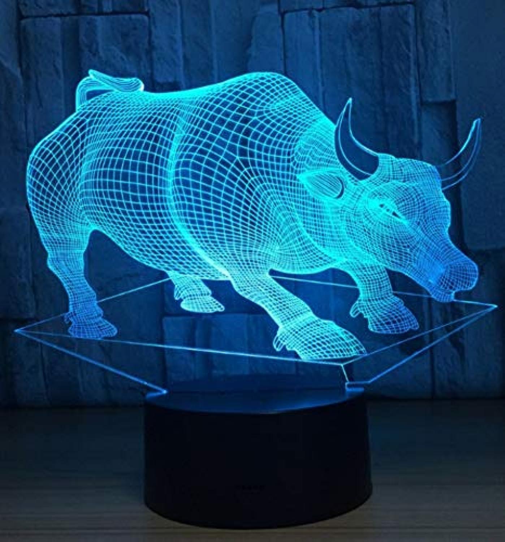 3D Nachtlicht Lampenkreatives Nachtlicht 3D Stereo-Led Führte Helle Bunte Note Des Usb-Nachtlichts