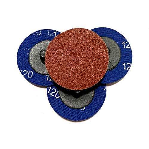 10 PCS Disco de lijado de 2 pulgadas Bloqueo de rollo de disco de acondicionamiento de superficie de cambio rápido para preparación, pulido y acabado de superficies metálicas