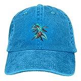 Blue Water Dragon Unisex Washed Ajustable Sombrero de Vaquero Denim Gorras de béisbol Multicolor8