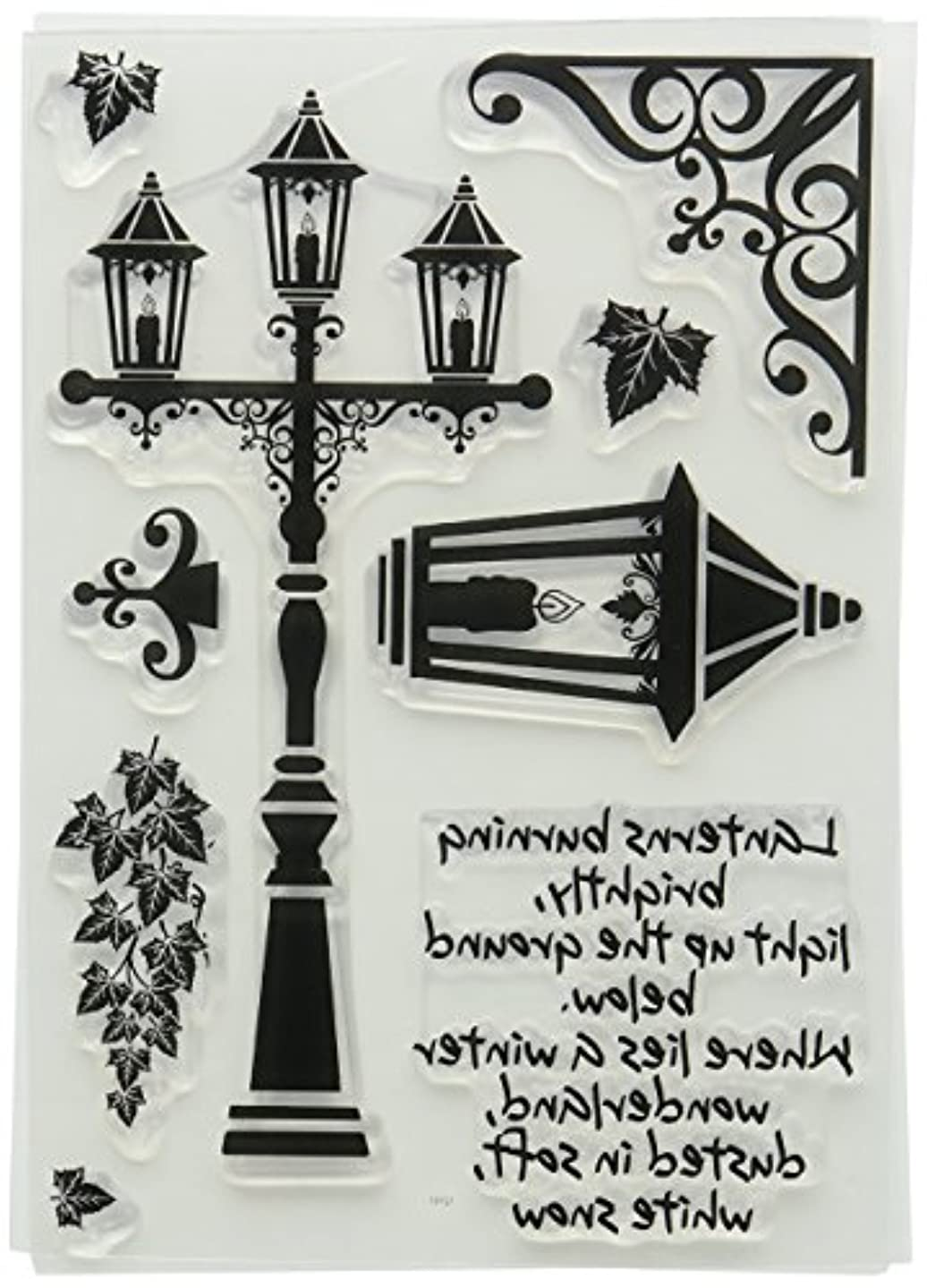 Card-io Vintage Lanterns Clear Stamp Set, Synthetic Material, 22.4 x 11.3 x 0.3 cm