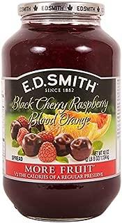 E. D. Smith Fruit Spread Black Cherry Raspberry blood Orange 40 Oz Each 1 Large Jar