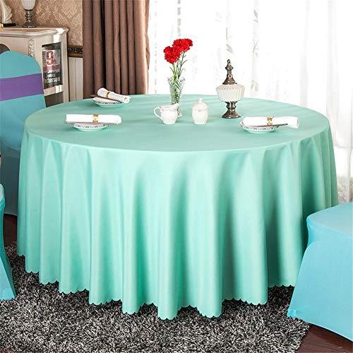 Romsion Home Voor 140 cm Effen Tafelkleed Rond Satijn Tafelkleed Bruiloft Party Restaurant Thuis Tafelkleed