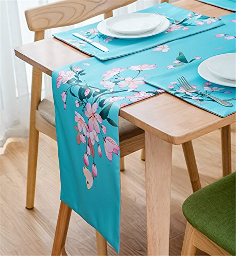 Sucastle® 33X200cm tissu Chemin de Table Cuisine Imperméable Décoration en Aspect naturel
