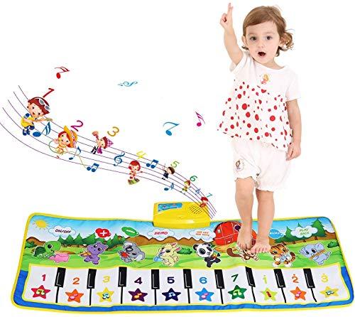 NEWSTYLE Tapis Musical,Tapis de Jeu Piano Enfants, Tapis de Musique Early Education Jouets Tapis de Jeu pour Enfants pour Enfants Cadeau pour Anniversaire Festival (100 x 36 cm)