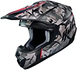 HJC Helmets Casco de motocross CS-MX II Sapir, color negro, verde y rojo, talla M (57/58)