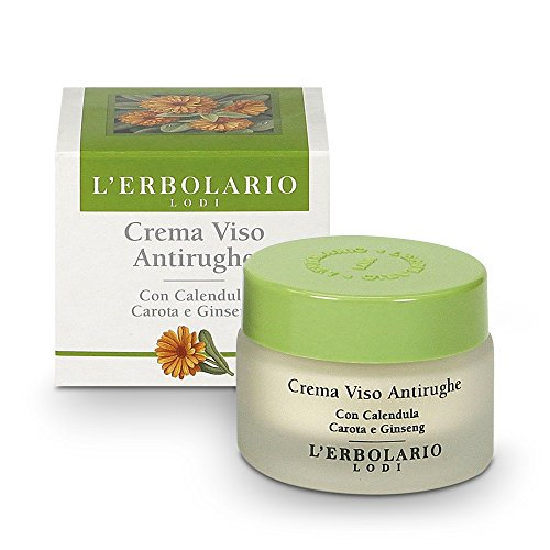 L'Erbolario gezichtscrème met goudsbloem, wortel en ginseng, per stuk verpakt (1 x 30 ml)