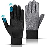 Photo de Thermal Winter Touch Screen Windproof Gloves Men Women, Running Walking Riding Gloves for Indoor Outdoor Activities | Anti-slip Grip, Elastic Cuff, Warm Lining, Stretchy Material