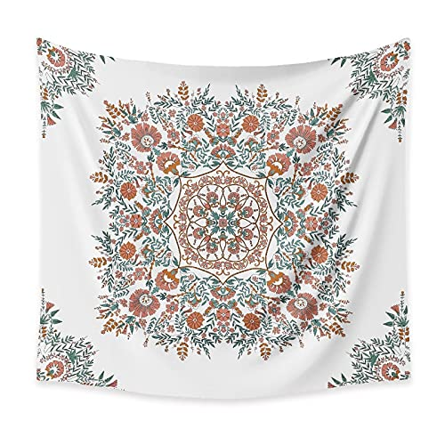 Mandala estilo boho tapiz colgante de pared indio manta de pared decoración del hogar fondo tela manta tapiz A1 180x200cm