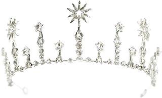 YNYA Tiare Corona Nuziale Corona Principessa Corona Nuziale Compleanno Copricapo Accessori per Capelli Accessori per Matri...