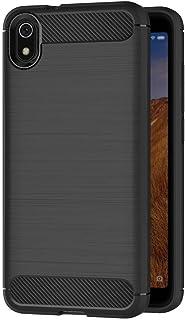 حافظة حماية لهاتف شاومي ريدمي 7 ايه (5.45 انش) مصنوعة من السيليكون الناعم والفاخر مع نسيج من الياف كربونية من مايجين(اسود)