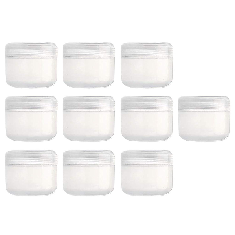 CUTICATE 全15カラー プラスチック製 フェイスクリームボトル ローションボトル 空のボトル 化粧品ボトル - クリア20g