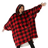 THE COMFY Original | Oversized Microfiber & Sherpa Wearable Blanket, Seen On Shark Tank, One Size Fits All