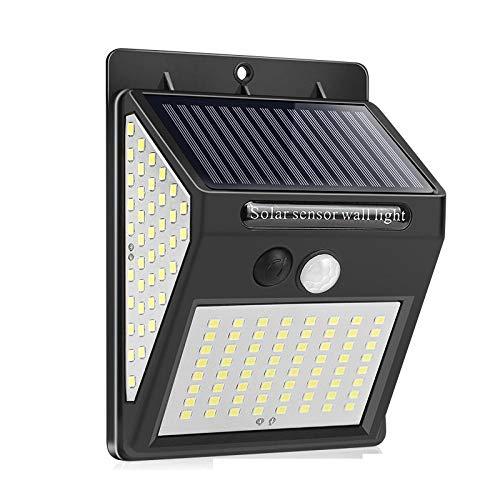 144 luces solares LED lámpara solar al aire libre Sensor de movimiento PIR luz de pared impermeable con energía solar decoración de jardín