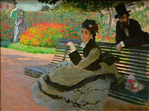 Het Museum Outlet - Camille Monet op een tuinbank - Poster Print Online Kopen (40 X 50 Inch)
