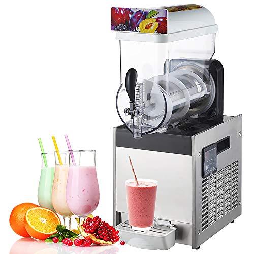 Máquina de granizado de hielo comercial Máquina de granizado de acero inoxidable de 15L con ajuste de espesor Máquina de bebida congelada Máquina de bebida de enfriamiento