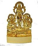 Laxmi Ganesh Saraswati Idol Laxmi Ganesh Sarasvati Statue 11 cm Height