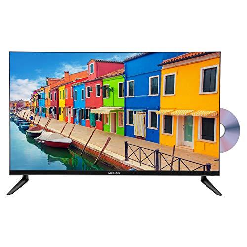 MEDION E13212 80 cm (31,5 Zoll) HD Fernseher (HD Triple Tuner, DVB-T2 HD, integrierter DVD-Player, CI+, Mediaplayer, 3 x HDMI, SCART, VGA, USB)