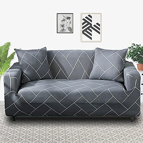 PPOS Funda de sofá elástica elástica con Estampado Floral, Toalla de sofá de algodón, Fundas de sofá Antideslizantes para Sala de Estar A7, 4 Asientos, 235-300cm-1pc