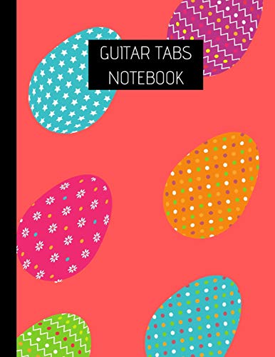 Guitar Tab Notebook: Egg theme Blank Guitar Tablature Manuscript book with Chord Diagrams 8.5''x11'' - 120 pages