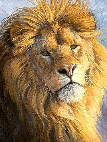 Pintura de diamante León 5D DIY Animal Kit de punto de cruz mosaico bordado venta decoración del hogar pintura de diamante A14 30x40cm
