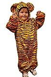 Tiger-Kostüm, ZO13, Gr. 110-116, für Kinder, Tiger-Kostüme für Fasching Karneval Fasnacht, Kleinkinder-Karnevalskostüme, Kinder-Faschingskostüme,Geburtstags-Geschenk Weihnachts-Geschenk
