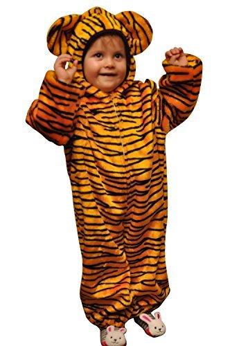Ikumaal Tiger-Kostüm, ZO13, Gr. 104-110, für Kinder, Tiger-Kostüme für Fasching Karneval Fasnacht, Kleinkinder-Karnevalskostüme, Kinder-Faschingskostüme,Geburtstags-Geschenk Weihnachts-Geschenk
