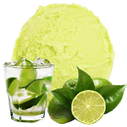 Caipirinha Limone Geschmack 1 Kg Gino Gelati Eispulver für Fruchteis Softeispulver Speiseeispulver