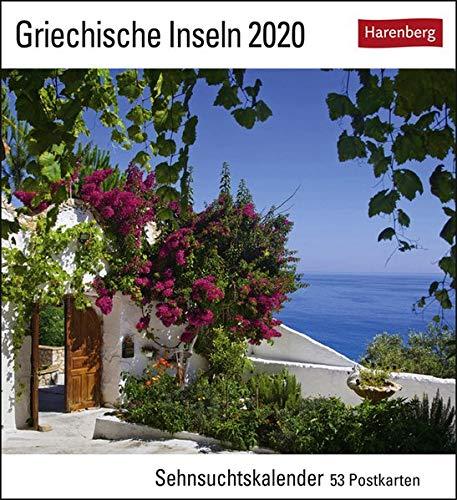 Griechische Inseln Postkartenkalender 2020. Wochenkalendarium. Blockkalender. Format 16 x 17,5 cm