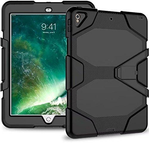 QIHANG Funda para iPad Pro 10.5–Silicona + Policarbonato Protector con Kickstand Plegable...