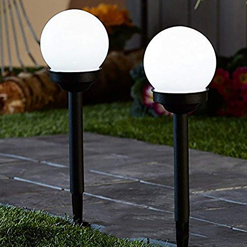 LPxdywlk Luces Solares LED, 2 Piezas Bola Redonda LED Jardín Luz De Energía Solar Lámpara De...